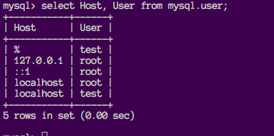 How to create user and grant privileges in mysql